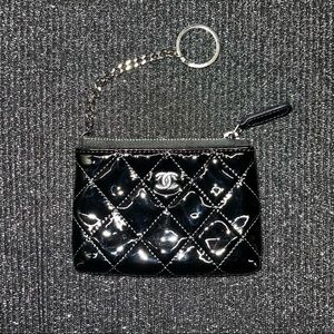 * MOVING SALE * Chanel Patent O-Case Keyring Pouch